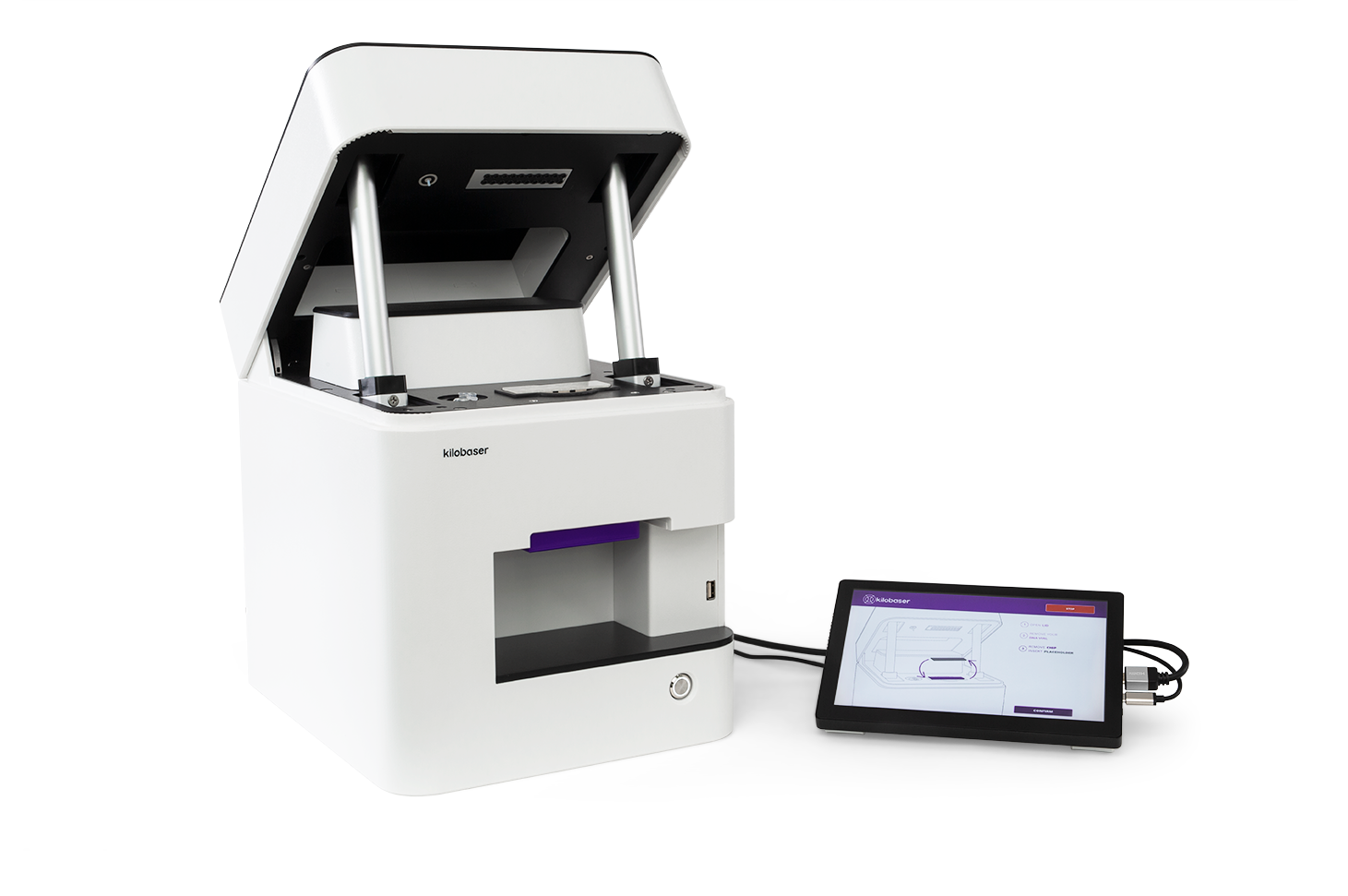 Kilobaser DNA Synthesizer machine for in-house DNA Synthesis. Synthesize DNA oligos, DNA primer, DNA probes in less than 2h.
