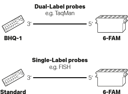 Kilobaser Supply combinations for DNA probe synthesis.