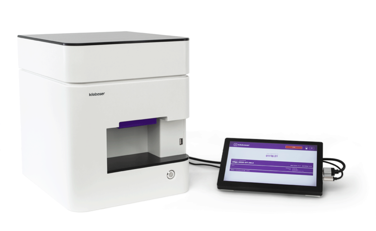 Kilobaser benchtop DNA Synthesizer machine for in-house DNA Synthesis. Microfluidic chip based. Synthesize DNA oligos, DNA primer, DNA probes in less than 2h.